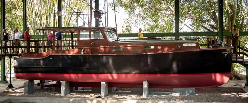 """Ernest Hemingway fikk bygd havfiskebåten """"Pilar"""" ved Wheeler Yacht Company i 1934. I dag står den utstilt på Finca Vigia utenfor Havana."""