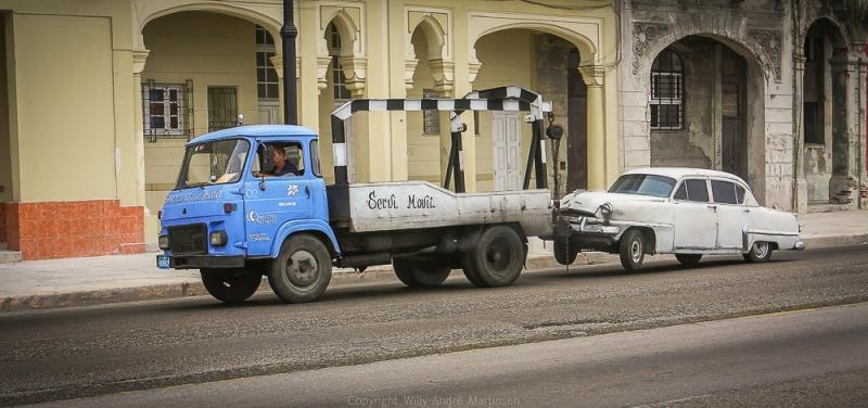 Dette er den eneste kranbilen jeg noen gang har sett på Cuba.